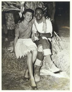 from the virginia state university archives  sadie hawkin's dance, ca. 1950's