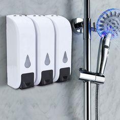 350Ml Wall Mount Soap Dispenser Bathroom Shower Lotion Shampoo Liquid Sanitizer