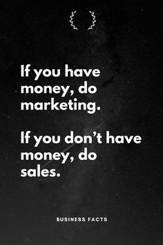 Marketing is just sales which is scaled. Bio Quotes, Quotes To Live By, Motivational Quotes, Inspirational Quotes, Marketing Quotes, Sales And Marketing, Digital Marketing, New Business Ideas, Business Inspiration