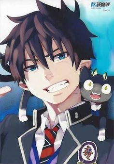 Ao no Exorcist Rin Okumura Kuro Ao No Exorcist, Blue Exorcist Anime, Blue Exorcist Cosplay, Rin Okumura, Mephisto, Cute Anime Guys, I Love Anime, Super Manga, Animes Wallpapers