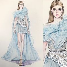 New fashion sketches illustrators elie saab 16 ideas Elie Saab, Dress Illustration, Fashion Illustration Dresses, Fashion Illustrations, Fashion Art, Trendy Fashion, Fashion Models, Fashion Design Drawings, Fashion Sketches