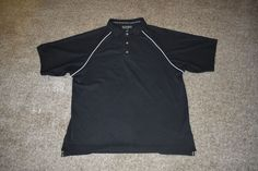FootJoy FJ Mens Golf Polo Black White Shirt Size Medium M #FootJoy #PoloShirt