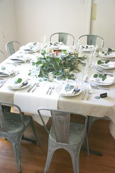 Furniture Setting Dinner Table Correctly For Party Fascinating ...