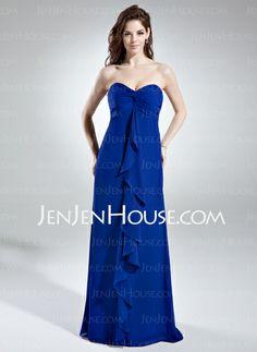 Bridesmaid Dresses - $123.99 - Empire Sweetheart Floor-Length Chiffon Bridesmaid Dress With Ruffle (007006366) http://jenjenhouse.com/Empire-Sweetheart-Floor-Length-Chiffon-Bridesmaid-Dress-With-Ruffle-007006366-g6366