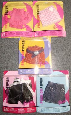5 Different NRFP Barbie Fashion Fever Separates from 2005 027084191660   eBay