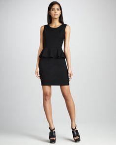 This looks cool and elegant: Sleeveless Peplum Dress