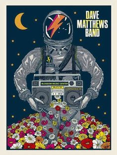 Dave Matthews Band Date: Venue: Blossom Music Center City: Cuyahoga Falls State: OH Dave Matthews Band Posters, Blossom Music Center, Cuyahoga Falls, Tour Posters, Concert Posters, Music Posters, Him Band, Music Is Life, Rock And Roll