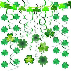 St Patrick/'s Day Shamrock 30-Inch Hanging Whirls 3 Pack