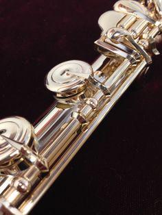 10K yellow gold Handmade Custom Powell flute