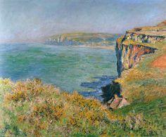 Monet - Cliff at Grainval - 1881