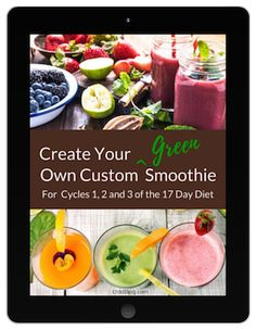 Follow my magic formula for a green smoothie recipe that can be consumed as a meal replacement or as a snack while losing weight on the 17 Day Diet.