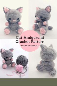 Amigurumi Cat Crochet Pattern #crochetpattern #amigurumi #ad #cat
