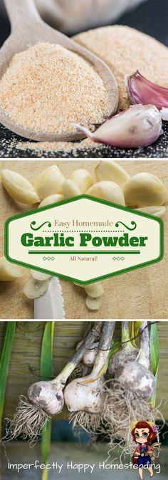 Easy to Make Homemade Garlic Powder - all natural!