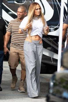 Jennifer Lopez Just Brought Thong Pants Back From the Dead Jennifer Lopez just wore thong pants for a music video shoot. See the look for yourself here. Jennifer Lopez, Girl Fashion, Fashion Outfits, Womens Fashion, Summer Outfits, Cute Outfits, Summer Is Coming, Bikini Photos, Who What Wear
