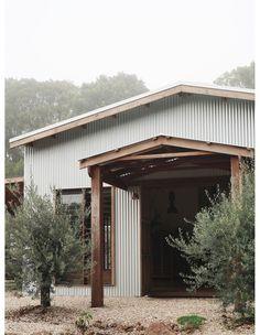 Australian Sheds, Australian Homes, Australian Country Houses, Black Shed, House Deck, Farm House, Eco Cabin, Modern Barn House, Long House