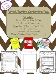 freebie! parent teacher conference forms.