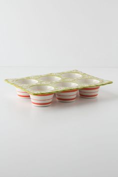 Folk Flora Muffin Pan - Anthropologie.com
