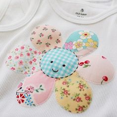 Cute applique flower for baby clothes, blankets, etc.