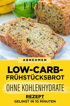 Lose weight: low-carb breakfast bread without carbohydrates - Fitness Doctors! Lose Weight, Weight Loss, Low Carb Breakfast, Low Carb Diet, No Bake Cake, Banana Bread, Brunch, Food And Drink, Keto
