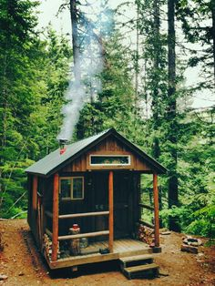 I Haz a Tiny Cabin in the Woods! - bogdan tiny cabin in the woods 1 I Haz a Tiny Cabin in the Woods! The Effective Pictures - Tiny Cabins, Tiny House Cabin, Cabins And Cottages, Cabin Homes, Log Homes, Wooden Cabins, Tiny Cabin Plans, Log Cabins, Tiny Guest House