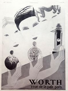 Perfume WORTH poster French cologne vintage advertising by OldMag