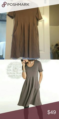 50a25497013 French Terry Comfort Dress Large Brown As seen in North Style. Brand new  with tags