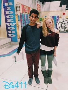 """Photo: Jordan Fisher & Dove Cameron On The Set Of """"Liv And Maddie"""" October Disney Channel Stars, Disney Stars, Hottest Female Celebrities, Celebs, Liv Rooney, Dove Cameron Style, Tv Show Casting, Chloe, Cameron Boyce"""