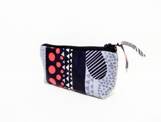 Small Cotton Zipper Pouch  Small Pouch by handjstarcreations
