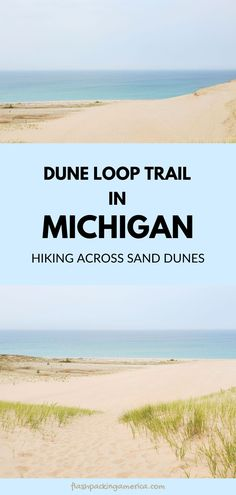 see the post for more! michigan sand dunes, hiking trail, beach. great lakes. michigan road trip, summer vacation. national lakeshore park vacation ideas. us outdoor travel destinations. vacation spots, ideas, places in the US. northern michigan things to do near traverse city. midwest summer vacation Michigan Vacations, Michigan Travel, Lake Michigan, Vacation Ideas, Vacation Spots, Great Places, Places To See, Us Travel Destinations, Traverse City