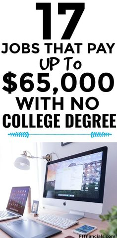 jobs that pay with no college degree