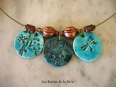 Very similar to the clay beads I've made.  médailles rondes