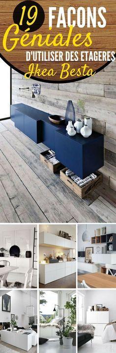 Les meubles Besta d'IKEA, c'est une collection complète de rangement, dans différentes configurations, qui doivent être fixées au mur. Les tiroirs et les portes se ferment silencieusement, grâce à leur fermeture spécifique intégrée. En plus, la simplicité des tiroirs permet de les décorer comme bon vous semble. Les meubles Besta peuvent être utilisés un peu partout : comme meuble TV ou meuble de rangement – #ikea #idéesdéco #intérieur #maison #décoration #déco #rangement #organisation #besta