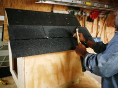 How to Build a Dog House from a single sheet of plywood.
