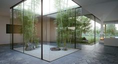 un jardin japonais moderne