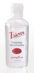 Thieves® Waterless Hand Purifier is an all-natural hand purifier designed to cleanse and refresh the hands. Thieves Waterless Hand Purifier can be used by adults and children to keep hands clean and promote good hygiene, without the use of water. Dermatologist tested.