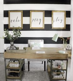 ideas for farmhouse office wall decor spaces Business Office Decor, Office Signs, Office Wall Decor, Office Walls, Office Desk, Office 2020, Basement Office, Office Cubicle, School Office