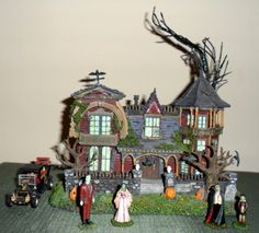 Hawthorne Village The Munsters 1313 Mockingbird Lane Collection. All figurines shown besides Marilyn Munster. Would love to collect before this Halloween.