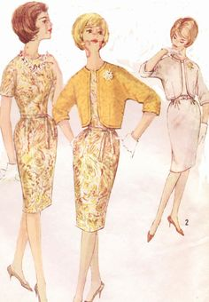 60s Simplicity Sewing Pattern 4564 Womens Mad Men by CloesCloset, $12.00