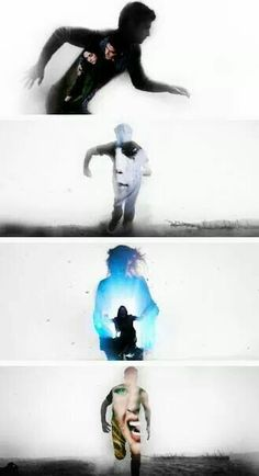 Teen wolf Scott, Stiles, Lydia and Derek. I think this edit is showing what haunts them the most? For Scott and Lydia- Allison's death. Stiles- the Nogitsune. And for Derek-Kate (I think)