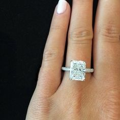 2-00-Ct-Natural-Radiant-Cut-Micro-Pave-Diamond-Engagement-Ring-GIA-Certified