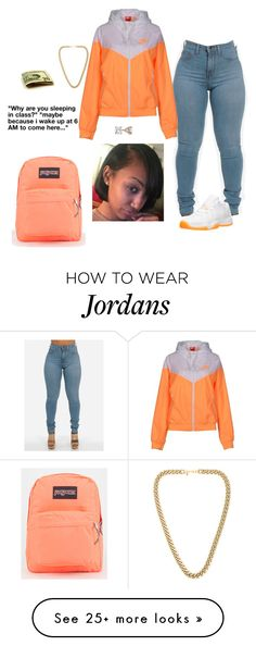 """TRUE"" by elkanah15a on Polyvore featuring NIKE, Retrò, Allurez, Kenneth Jay Lane and JanSport"