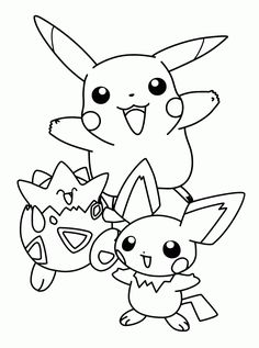 Pokemon Coloring Pages Pikachu And Friends