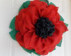 Poinsettia Wreath Christmas by JFPrettyLittleThings on Etsy