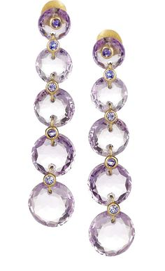 Marie-Hélène de Taillac amethyst earrings