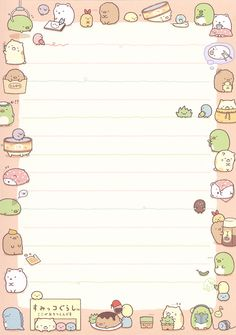 "San-X Sumikko Gurashi ""Leisure"" Memo Pen Pal Letters, Cute Letters, Printable Scrapbook Paper, Printable Paper, Free Printable Stationery, Memo Notepad, Note Doodles, Note Memo, Cute Notes"