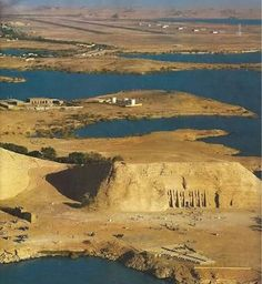 Abu Simbel Temple #Egypt I have never seen anything but close ups. This gives a bit more perspective.