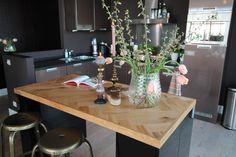 DIY: Keukeneiland met visgraatmotief - Eigen Huis en Tuin