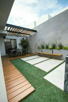 Backyard Patio Designs - Stunning And Cheap Landscaping Ideas You Can Copy Backyard Patio Designs, Modern Backyard, Pergola Patio, Backyard Landscaping, Pergola Kits, Pergola Ideas, Patio Roof, Houston Landscaping, Backyard House