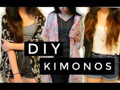Sempre gostei de customizar minhas roupas e vivia picotando minhas camisetas. Ultimamente as roupas que eu ando gostando, são difíceis de achar aqui no Brasil ou custam caro, então, andei fuçando pelas interwebs e achei diversos DIY's, principalmente da peça que eu sempre procuro: kimonos! Você pode fazer com tecido inteiro, lenços e até uma…