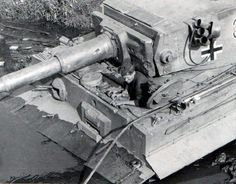 A Tiger 1 in the mud...awaiting some help getting out of a sticky situation